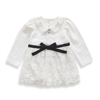 Autumn Girls Christmas Dress Party Cotton Lace Inant Newborn Baby Girl Dress Baby Girl Clothes Toddler