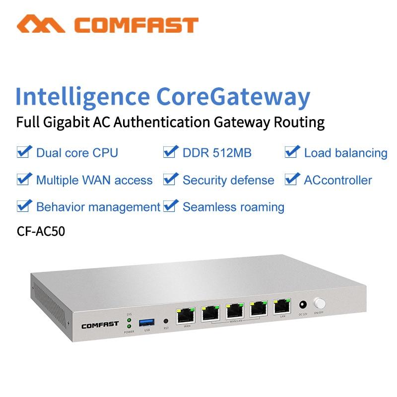 COMFAST CF-AC50 Gigabit Wifi AC Routeur Passerelle D'entreprise L'itinérance Sans Couture/Multi WAN/Équilibrer la Charge QoS PPPoE 4 Wan LAN Port Déroute