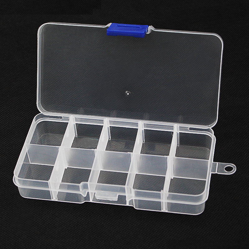 Electronic Accessories Storage Box 10grid Detachable Plastic Storage Case for  Electronic Components for