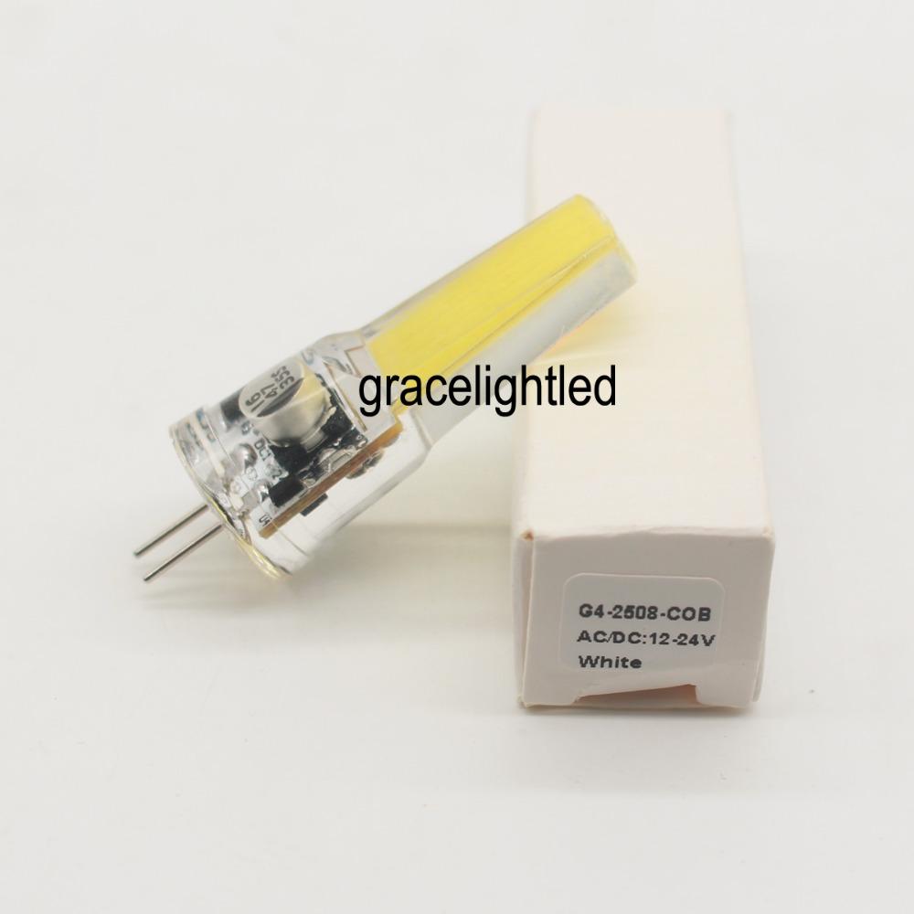 G4 5W COB 2508 AC//DC 12-24V Led Dimmable bulb White//Warm Silicone Light Lamp