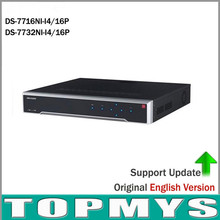 POE NVR DS-7716NI-I4/16P DS-7732NI-I4/16P With 16CH POE H.265 12MP NVR Support Alarm and Audio Output