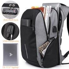 """남자 TSA 안티 절도 배낭 대용량 17.3 인치 USB 배낭 남성 여성을위한 15.6 """"노트북 배낭 Schoolbag 청소년을위한"""