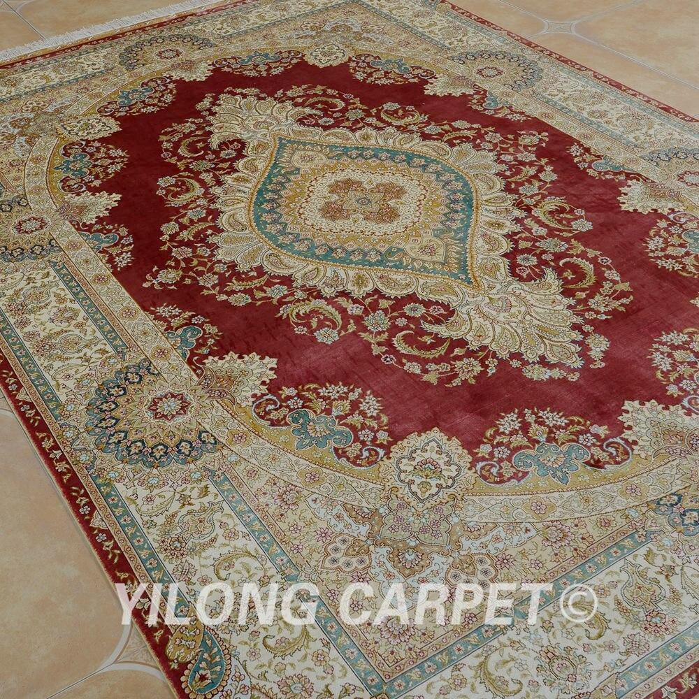 Prodaje se Yilong 5.5'x8 'ručni čipkasti tepih crvena ručno - Tekstil za kućanstvo - Foto 3