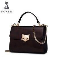 FOXER Brand Women Cow Split Leather Shoulder Bag Female Handbag Crossbody Bag for Lady Messenger Bag Fashion FOX S Bags