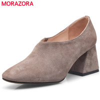MORAZORA Inside Of Pigskin Leather Women Pumps Party Fashion Sexy Lady High Heels Shoes Single Four