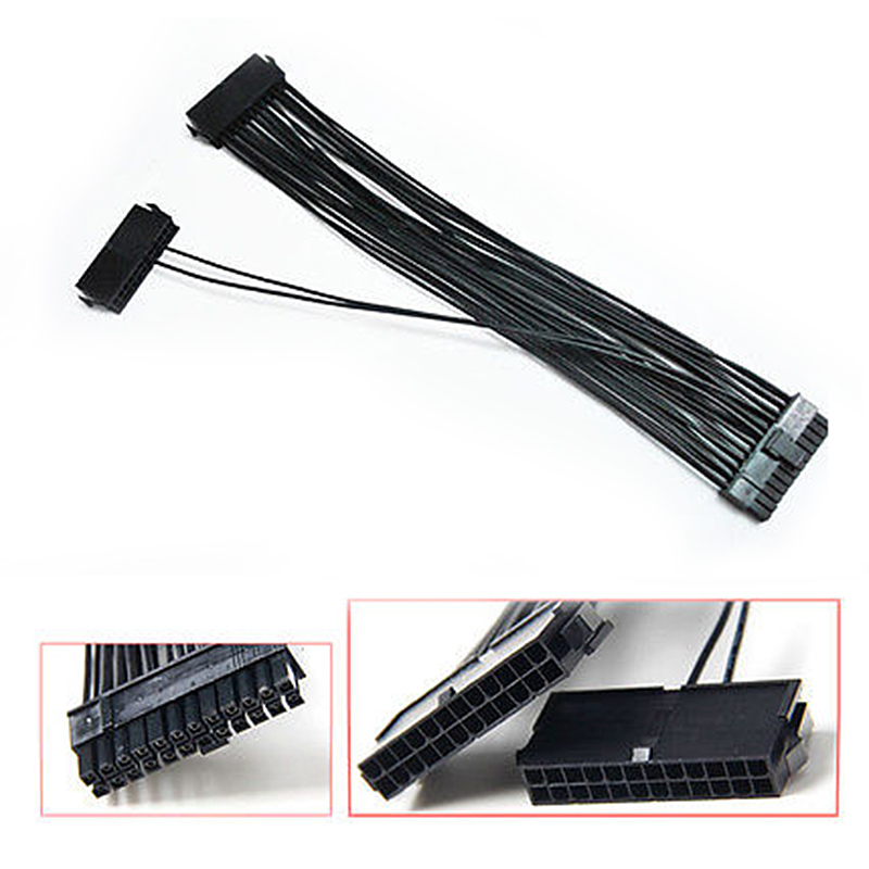 все цены на 24Pin 20+4pin Dual PSU ATX Power Supply Adaptor Cable Connector For Mining 30cm EM88 онлайн