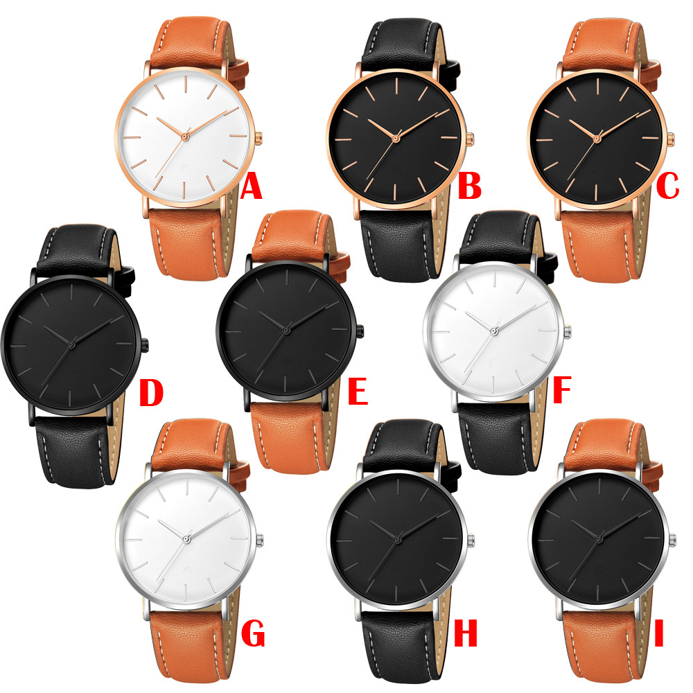 Men Watches 2019 Luxury Brand Men Date Alloy Case Synthetic Leather Analog Quartz Sport Watch Relogio Masculino Latest Fashion Men's Watches