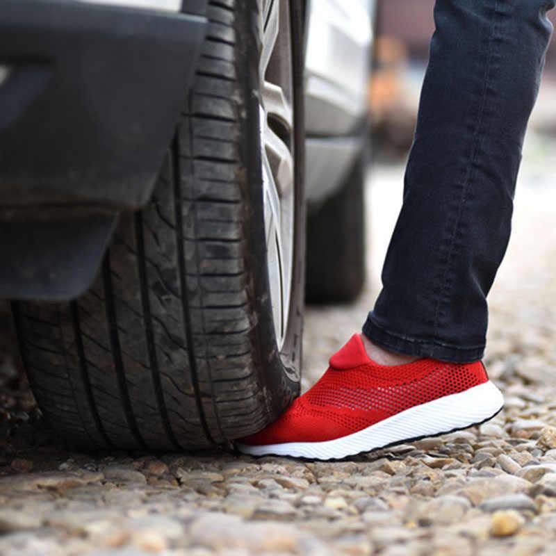 2020 Zomer Lichtgewicht Stalen Neus Veiligheidsschoenen Mannen En Vrouwen Werk & Veiligheid Laarzen Ademend Mannelijke Vrouwelijke Onverwoestbaar Schoenen