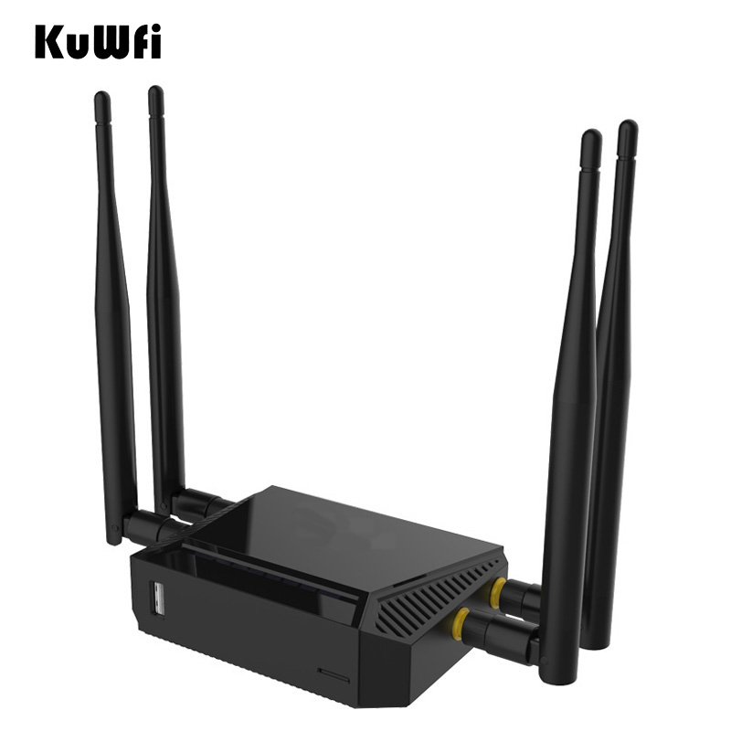 Image 5 - Kuwfi 3G/4G SIM Card Slot Wifi Router OpenWrt 300Mbps High Power Wireless Router Repeater with VPN Function and 4*5dBi Antenna-in Wireless Routers from Computer & Office
