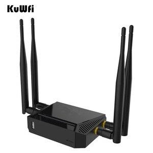 Image 5 - Kuwfi 3G/4G emplacement pour carte SIM routeur Wifi OpenWrt 300Mbps haute puissance routeur sans fil répéteur avec fonction VPN et antenne 4 * 5dBi