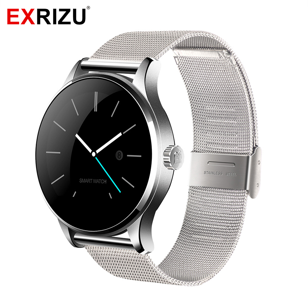 EXRIZU Original K88H Bluetooth Smart Watch Phone MTK2502 Smartwatch Heart Rate Monitor Pedometer Fitness Tracker for Android iOS lemfo dm360 smart watch wearable devices bluetooth smartwatch heart rate monitor pedometer fitness tracker for ios android hot
