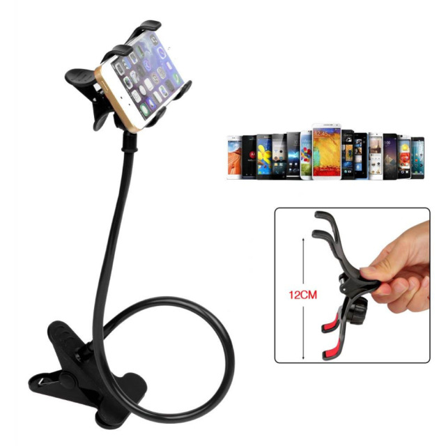 6b3785f6b22a Universal 360 Rotating Lazy Bed Desktop Car Phone Holder Long Arm Holder  For Tablet Car Selfie Mount Bracket Cell Phone Holders-in Mobile Phone  Holders ...