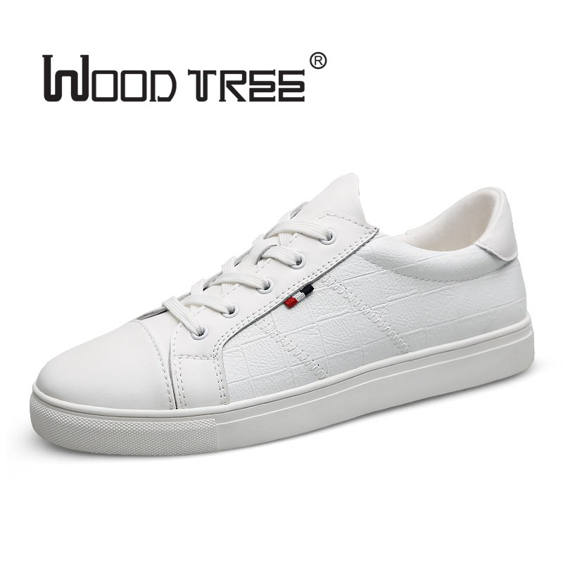 Woodtree White Shoe Men Casual 2017 Proljeće Jesen Muška Designer - Muške cipele - Foto 2