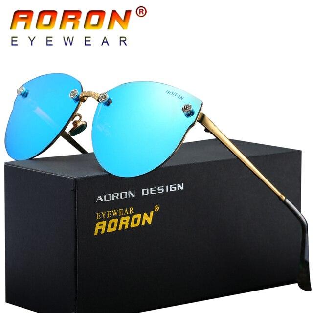 AORON Marca Originale Delle Donne Polarizzati Occhiali Da Sole A Specchio di  Guida Lenti Colorate Occhiali ff72ae477e