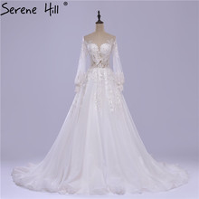 Long Sleeves Train Wedding Dress 2019 Serene Hill