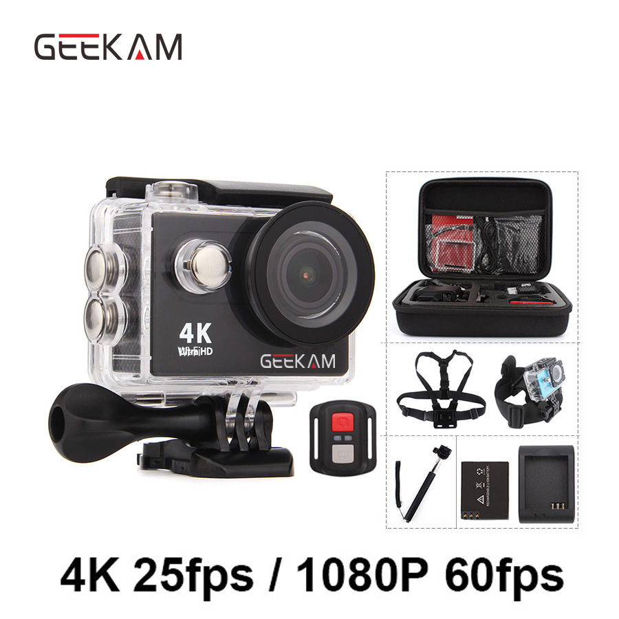 GEEKAM Action Camera H9 H9R Original Ultra Deportiva Camaras go Waterproof HD 4K WiFi 1080P 60fps pro Outdoor 170D Sport Camera action camera h3r h3 ultra hd 4k 170d lens go dual screen camera pro waterproof 30m remote control sport camera