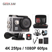 купить GEEKAM Action Camera H9 H9R Original Ultra Deportiva Camaras go Waterproof HD 4K WiFi 1080P 60fps pro Outdoor 170D Sport Camera онлайн