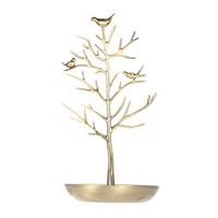 Metal Tree Jewelry Stand Display Rack Earring Necklace Ring Holder Organizer Color Ancient Bronze