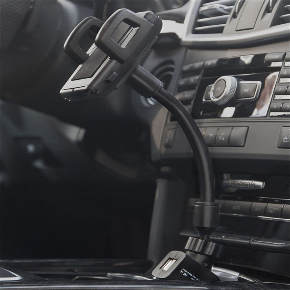 Mobile Phone Charger Holder Car Cigarette Lighter Dual USB Navigation Charging Stand Universal Multifunctional