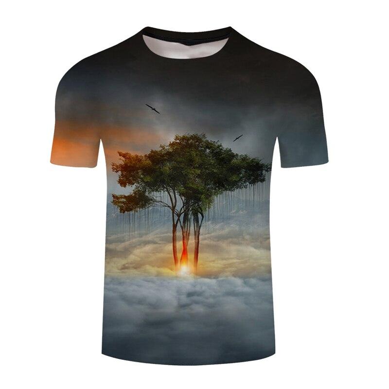 Mans T-shirt Fathers Day Summer Comfortable Top Shirt Compression Spain Shirt T-Shirt Dropship Shirt Men Nightfall Tree