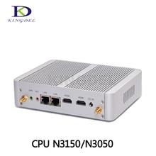 Безвентиляторный Мини Настольных ПК Intel Celeron N3150 Quad Core HTPC Dual LAN Небольшой Размер Компьютер Мини-ПК