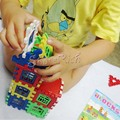 High Quality Christmas present Kids Blocks Children Letters Learning Toy Bricks House Building Blocks 24 Pcs