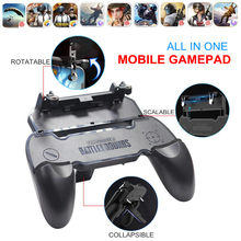 hot deal buy pubg mobile joystick free fire gamepad controller with l1 r1 triggers l1r1 button for iphone android phone pugb mobile joysticks