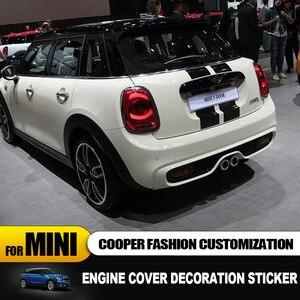 Image 3 - Pokrywa silnika + pokrywa bagażnika linia samochodów naklejki i kalkomanie samochód stylizacji dla Mini Cooper Clubman F55 F56 dekoracja naklejki akcesoria