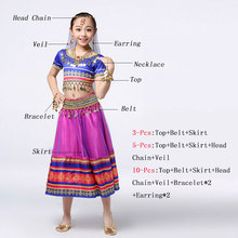 2019 Kids Belly Dance Costumes Set  Indian Style Wear For Children Girl With Jewelry Accessories
