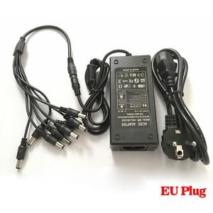 Image 2 - NINIVISION 12 v 5A 8CH Netzteil CCTV Kamera Power Box 8 Port DC + Zopf MANTEL DC 12 v power Adapter