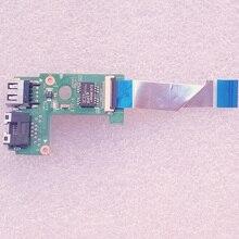Nueva Original LA57 Bordo RJ45 USB W/Cable Para Lenovo Z570 Z575 v570c B570 B575 B570E B575E V570 Series, P/N: 48.4IH06.01M 55.4W04.001G
