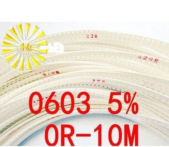 170valuesX50pcs=8500pcs 0603 SMD Resistor Kit Assorted Kit 0R-1M ohm 5% Sample Kit Sample bag Fuse