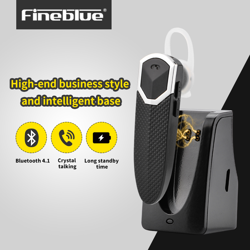 Fineblue FT-9 Bluetooth Headset Earphone Headset Bluetooth Car Speakerphone A2DP with Charging Dock for iOS Android phone dacom gf7 car kit bluetooth v4 2 earphone with mic charger dock for iphone 7