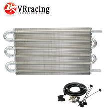 VR - Universal 304.8X190.5X19 05 6 fila de aluminio remoto enfriador de aceite de transmisión Kit/Auto-Manual del radiador convertidor VR4123