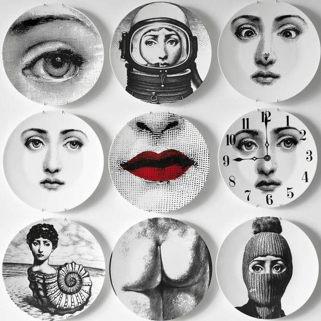 8/10-Inch Utenos Fornasetti Plates Home Decoration Christmas Decoration Dinner Plate Decorative Wall  sc 1 st  AliExpress.com & 8/10 Inch Utenos Fornasetti Plates Home Decoration Christmas ...
