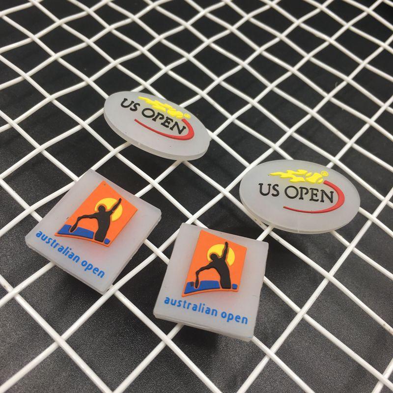 4pcs Aus Open/ US Open Tennis Damper Shock Absorber To Reduce Tenis Racquet Vibration Dampeners