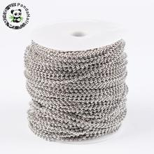 Металлические Шариковые цепи 2,4 мм в катушке: около 2,4 мм, диаметр 100 м/рулон