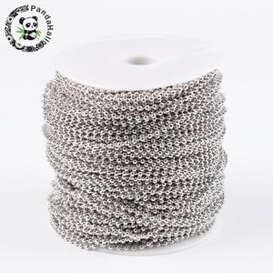 Image 1 - 2.4mm เหล็กโลหะโซ่ลูกสำหรับเครื่องประดับ DIY อุปกรณ์เสริม Come On Reel ลูกปัด: ประมาณ 2.4 มม.เส้นผ่านศูนย์กลาง 100 M/ม้วน
