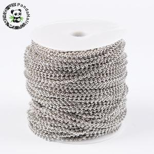 Image 1 - 2.4mm Iron Metal Ball Chains for Jewelry Making DIY Findings Accessory Come On Reel Bead: about 2.4mm diameter 100m/roll