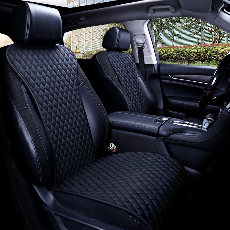 2019 brand new easy clean not moves car seat cushions, universal pu leather non slide seats cover fits for most cars water proof(China)