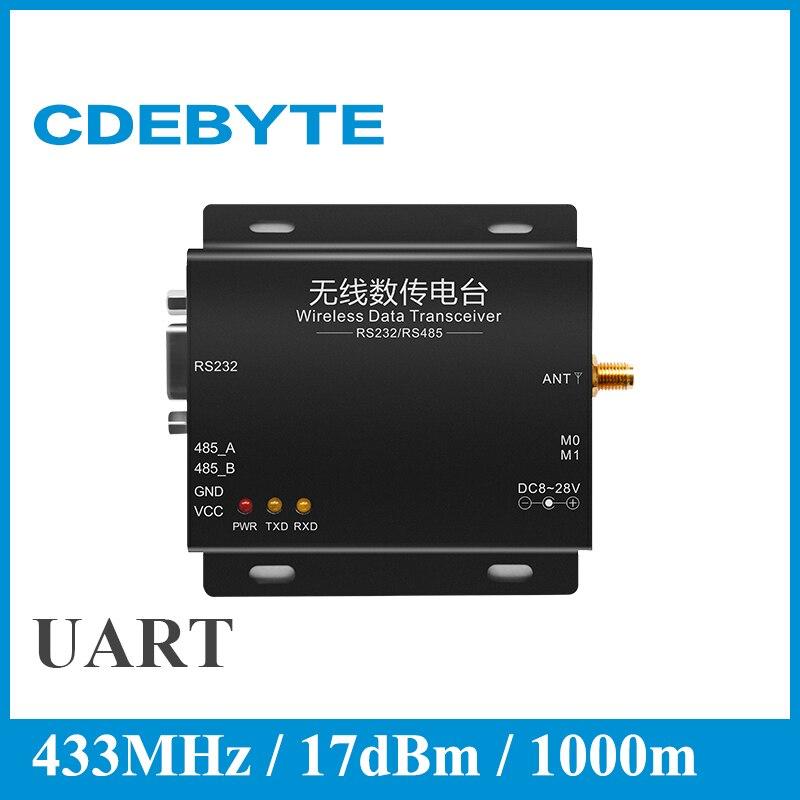 imágenes para CDEBYTE Alta velocidad 433 MHz 433 M transmisor Inalámbrico y el módulo receptor E61-DTU-50 RS232 RS485 Modbus apoyo