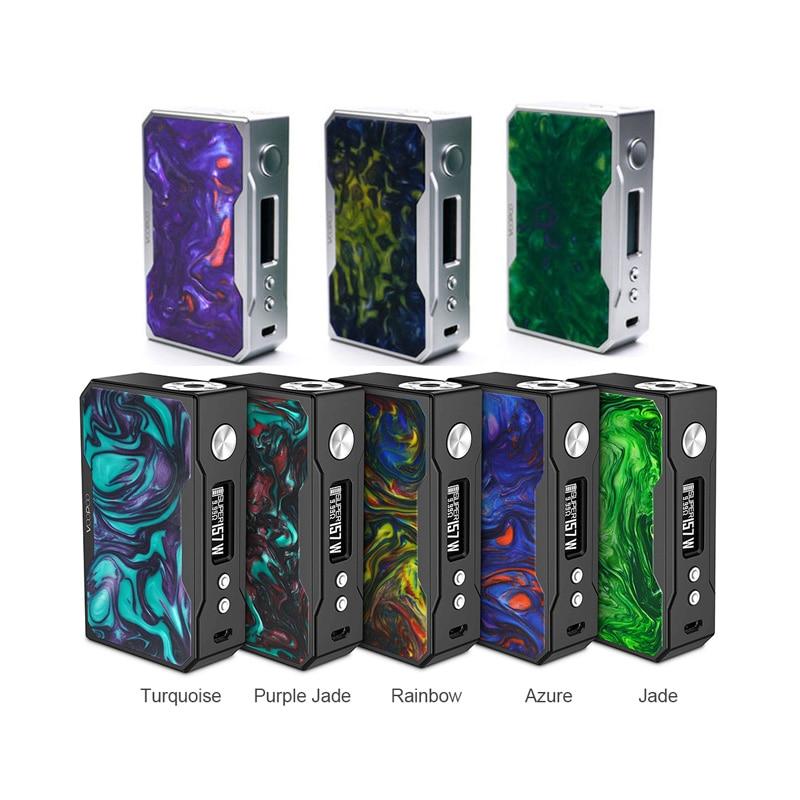 100% d'origine VOOPOO GLISSER 157 W mod carbone fibre version boîte de tc Mod e cigarette vaporisateur avec NOUS gène fun puce w/O 18650 batterie