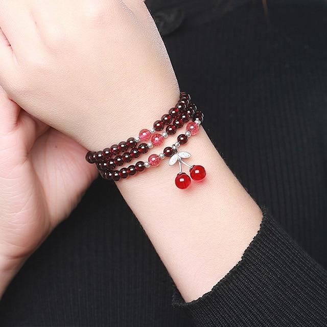 Garnet Wine Red Bracelets6