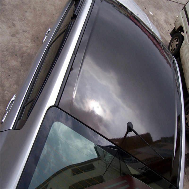 2x60x150 cm Ultra Luminoso Lucido Dell'automobile Del Vinile Della Decalcomania Wrap Sticker Nero Lucido Pellicola Dell'involucro di Vendita Al Dettaglio Per CAPPUCCIO del Tetto Del Motorino del Motociclo Barca