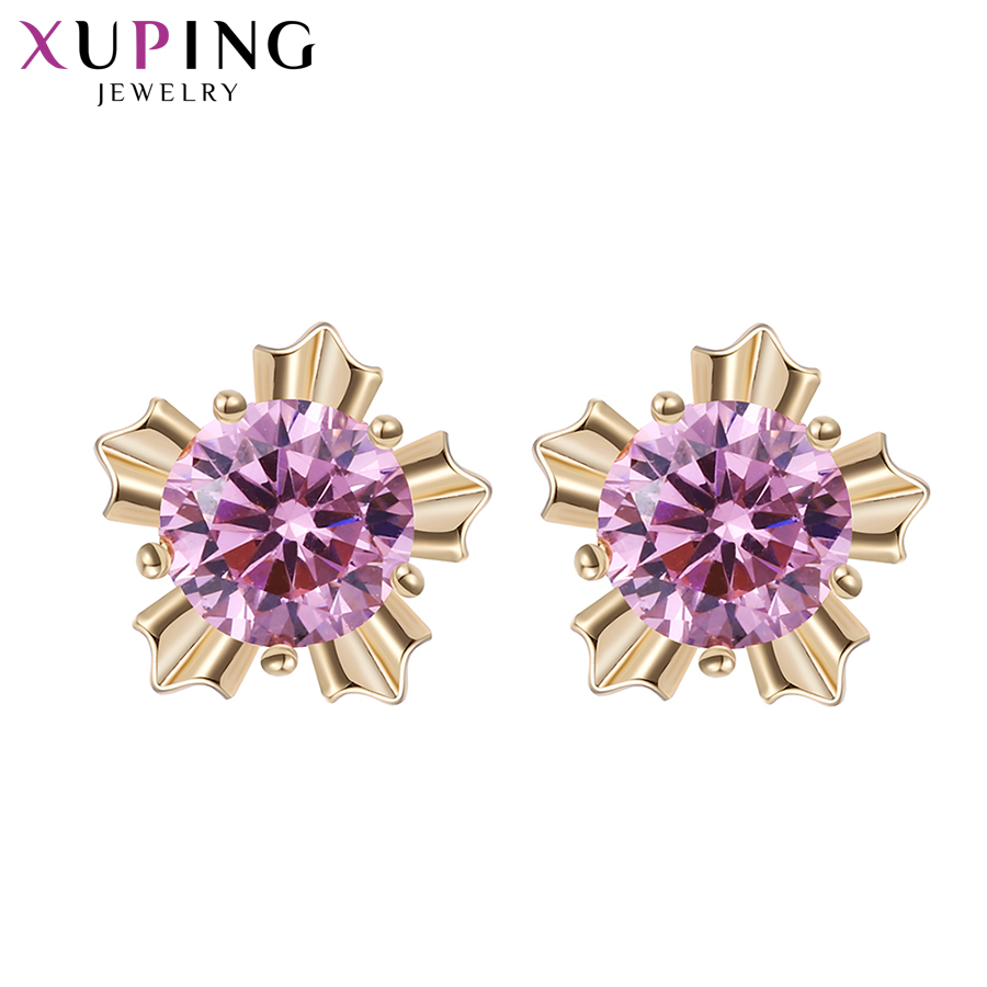 Xuping Elegant Earring New Design Gold Gold Plated Brand Fashion - Bisutería - foto 4