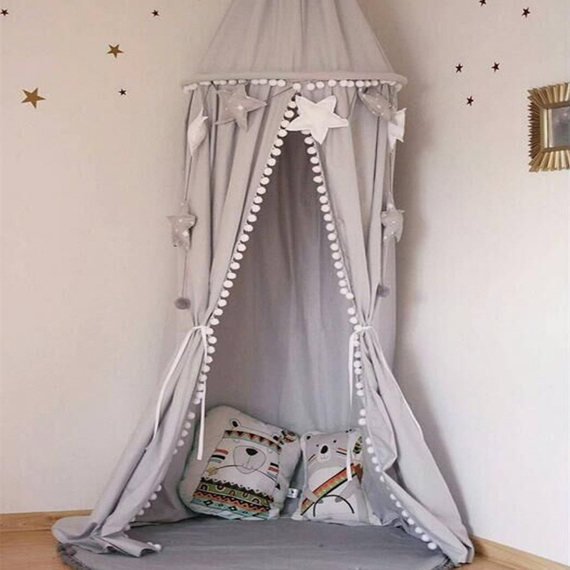 LILIGIRL Baby Bed Account Mosquito Net for Girl Boys Crib Bed Curtain Lace Kids Tent House Dome Hanging Room Photography Props