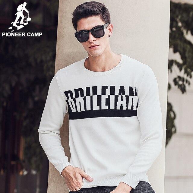 Пионерский Лагерь Свитер мужчин пуловеры марка одежды мужчины качество белый свитер осень-весна платье толстые рождество свитер 611220