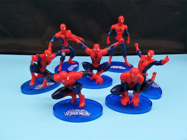 Spiderman Toys For Kids : Spider man figure toys pcs lot the avengers spiderman spider