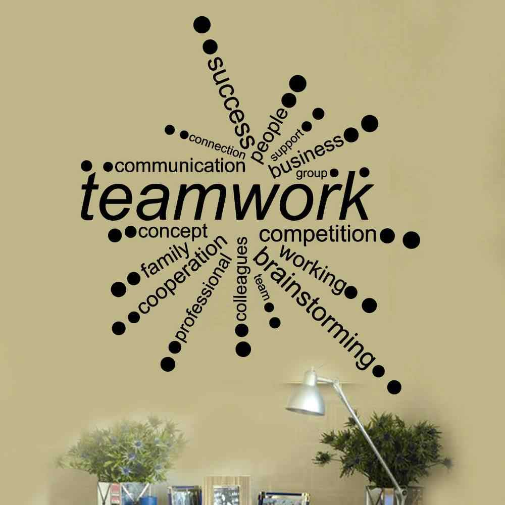 Teamwork Vinyl Quotes Wall Decals Removable Art Office