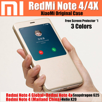 Redmi Note 4 Case 100 Real In Factory Original Packaging Ultra Thin Pu Leather Flip Cover